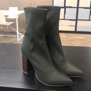 Olive green RAYE boots
